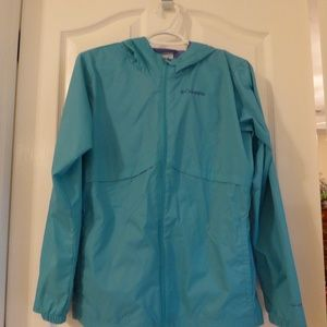Columbia Blue Rain Jacket